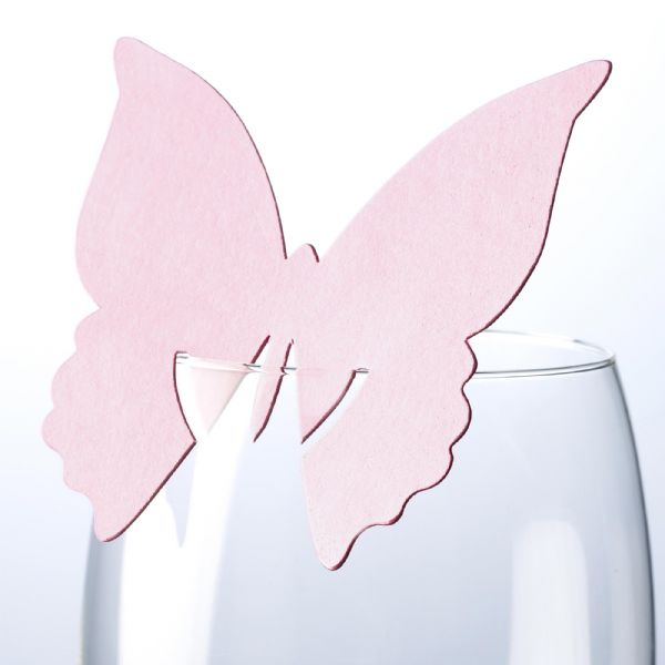 Baby Pink Butterfly Place Cards (10)